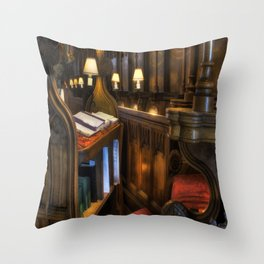 Cathedral's Chief Stall Throw Pillow