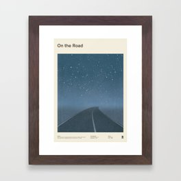 "Jack Kerouac ""On the Road"" - Minimalist literary art design, bookish gift Framed Art Print"