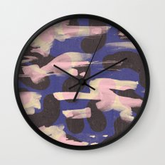 Paint Marks Camo Abstract Pattern Wall Clock