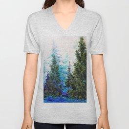 BLUE MOUNTAIN PINE FOREST  VISTA Unisex V-Neck