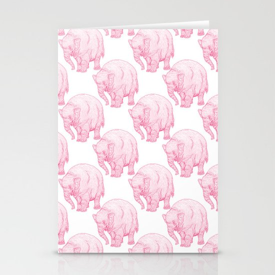 Pink Elephant Stationery Cards