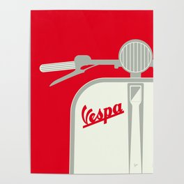 MY VESPA - FROM ITALY WITH LOVE - RED Poster