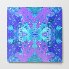 95 - Ice colour abstract pattern Metal Print