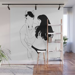 Woman and Horseman Wall Mural