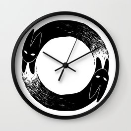The Black Rabbit Wall Clock