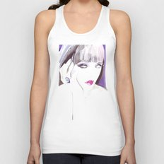 Fashion illustration in watercolors and ink Unisex Tank Top