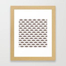 White moths Framed Art Print