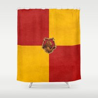 snape Shower Curtains featuring Gryffindor iPhone 4 4s 5 5c, pillow, case by neutrone
