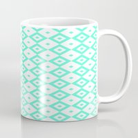 valar morghulis Mugs featuring Cyan Diamonds by beatrice