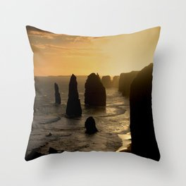 Sunset over the Twelve Apostles Throw Pillow