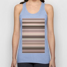 Mixed Striped Design Browns Taupe Creams Unisex Tank Top