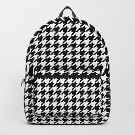Monochrome Black & White Houndstooth Backpack