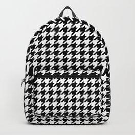 Monochrome Black & White Houndstooth Backpack