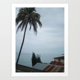 A Haitian Life by the Sea Art Print