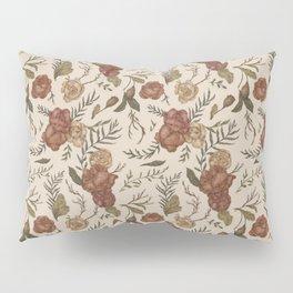 Antique Floral Pattern Pillow Sham