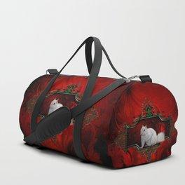 Beautiful whites squirrel Duffle Bag