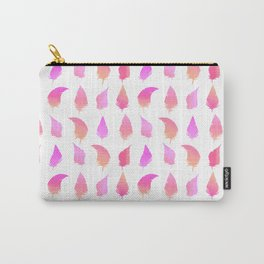 Feather pattern Hotpink Carry-All Pouch