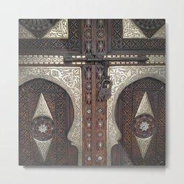 Ornate Door with Lock Metal Print