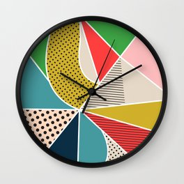 color segments 002 Wall Clock