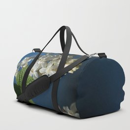 Understated Luminary      White Flowering Currant Bloom Duffle Bag