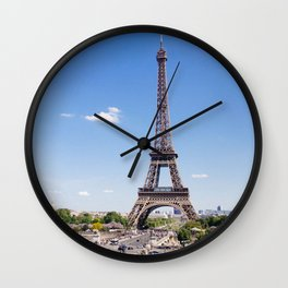The Eiffel Tower in Paris France Skyline Wall Clock