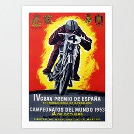 BARCELONA GRAN PREMIO ESPANA Art Print