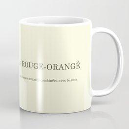 Le Rouge-Orangé (ses diverses nuances combinées avec le noir) Remake Coffee Mug