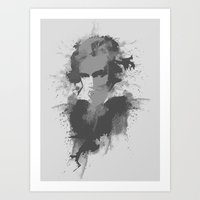 beethoven Art Prints featuring BEETHOVEN by Resistance