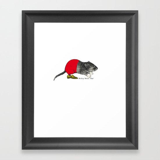 études - Mickey Framed Art Print