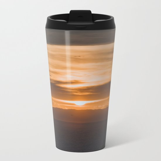 Greece II Metal Travel Mug