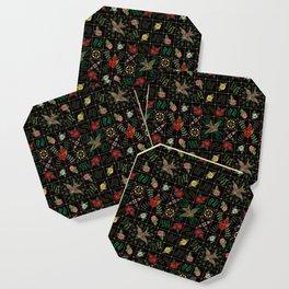 Swallows in a Spanish Rose Garden Coaster