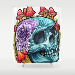 Geode Skull Shower Curtain