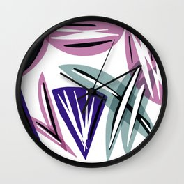 Wedges Block Party Wall Clock