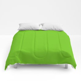 Simple Solid Color Alien Green All Over Print Comforters