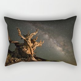 Milky Way over an Ancient Bristlecone Pine  Rectangular Pillow