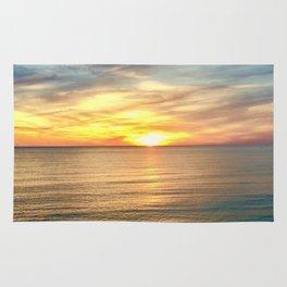 Tranquil Beach Sunset Rug