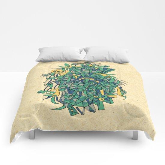 - woman & sea - Comforters