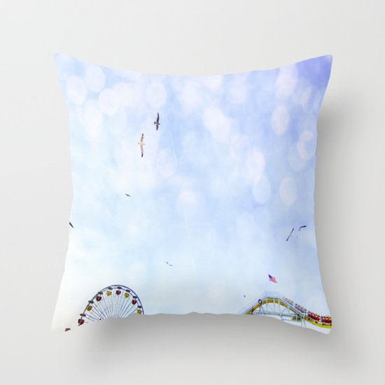 Carnival In The Sky  Throw Pillow