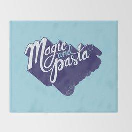 Life: Magic & Pasta Throw Blanket