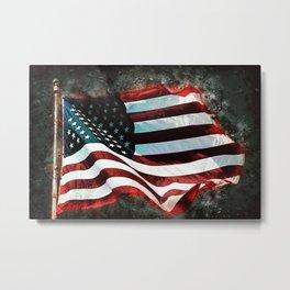 Abstract USA Flag Metal Print