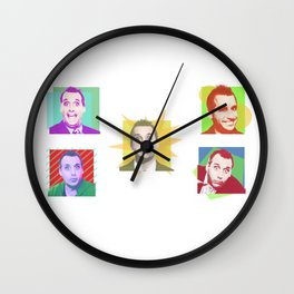 The Many Faces Of Joe Wall Clock