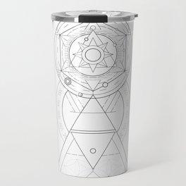 Geometric Universe Mandala Travel Mug