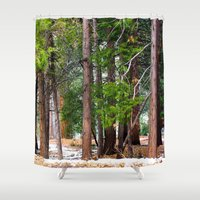 forrest Shower Curtains featuring Forrest by Savannah Ault