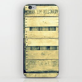 Apple Crate Wooden Texture iPhone Skin