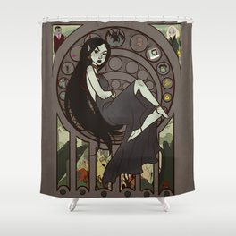 Queen of Darkness Shower Curtain