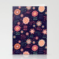 flora Stationery Cards featuring Flora by Valendji