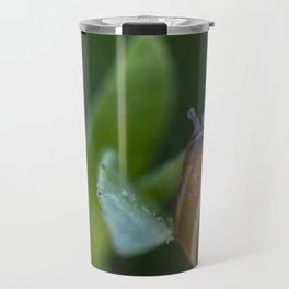Snail on green Travel Mug
