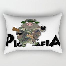 Pig Mafia Rectangular Pillow