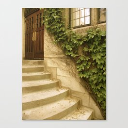 Steps to an Old Church  Canvas Print