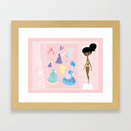 Lilly the paper doll Framed Art Print